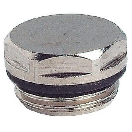 Bouchon laiton - Nickelé avec joint torique Ref. 1251-15